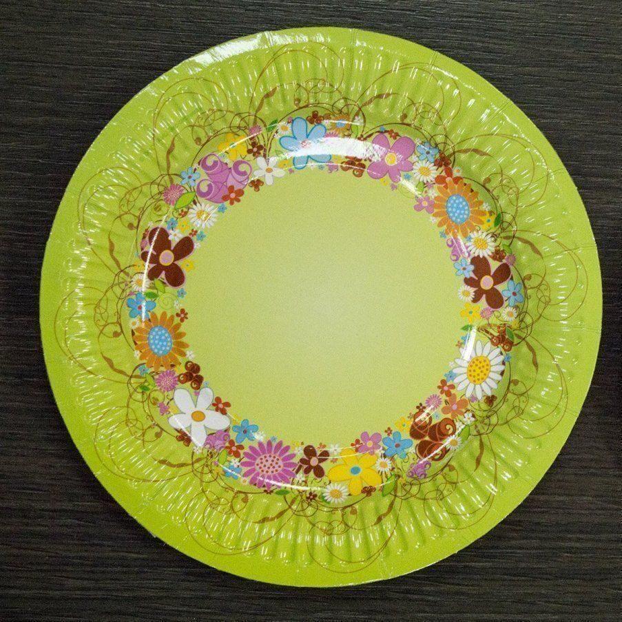 Картонные тарелки своими руками